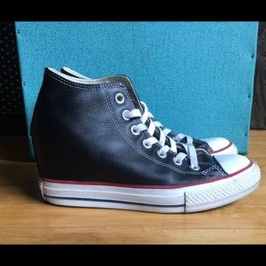 Converse Lux Wedge Leather Sneakers